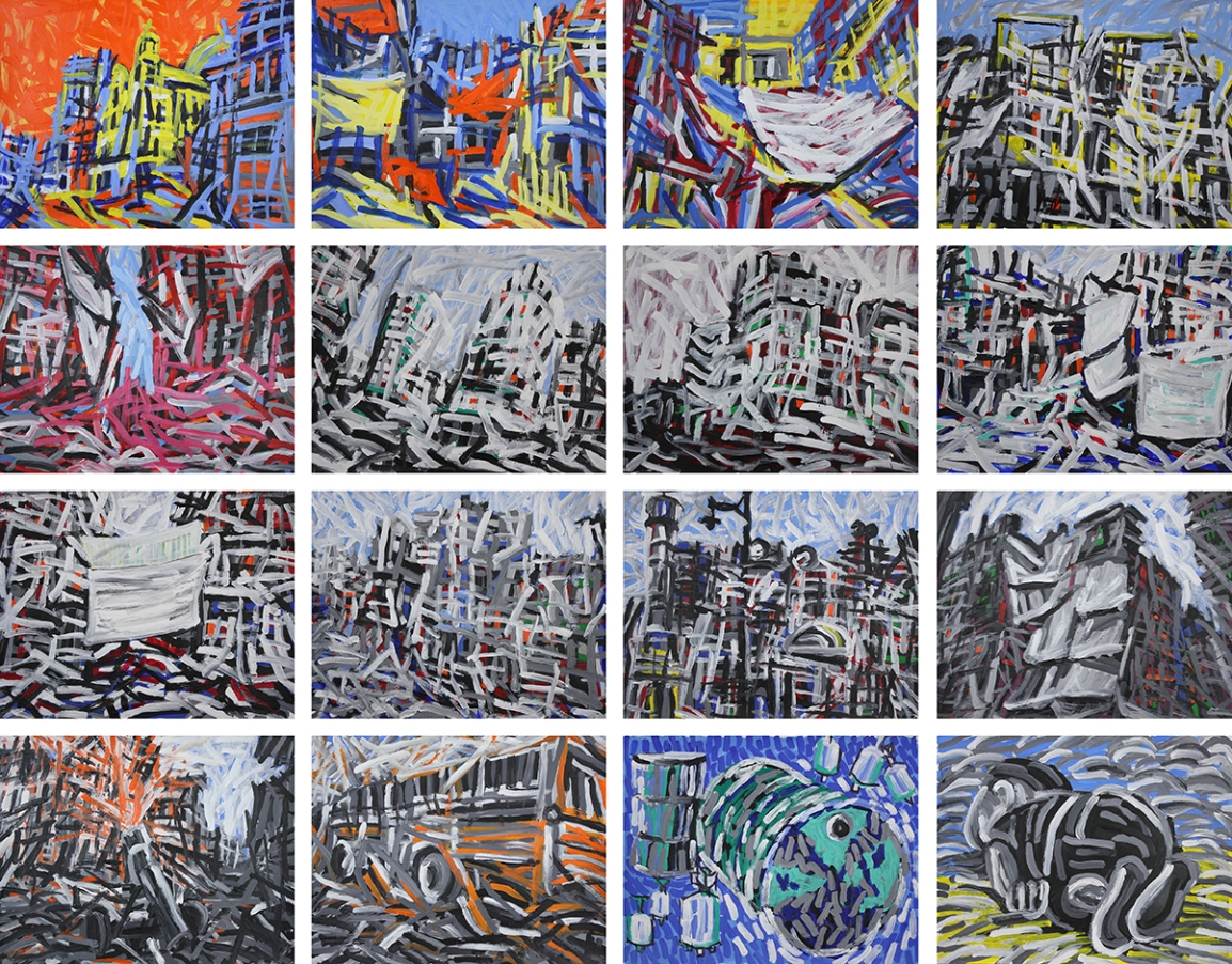Aleppo-Urban-Landscapes-No2_16 paintings_47x37_web