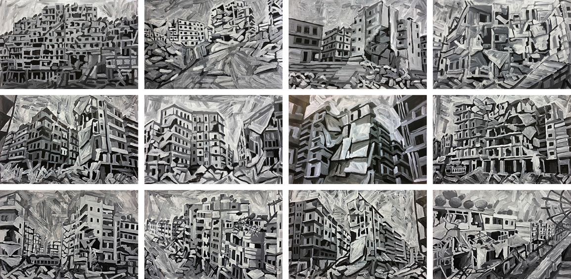 Aleppo-Urban-Landscapes-No5_12 underpaintings_web