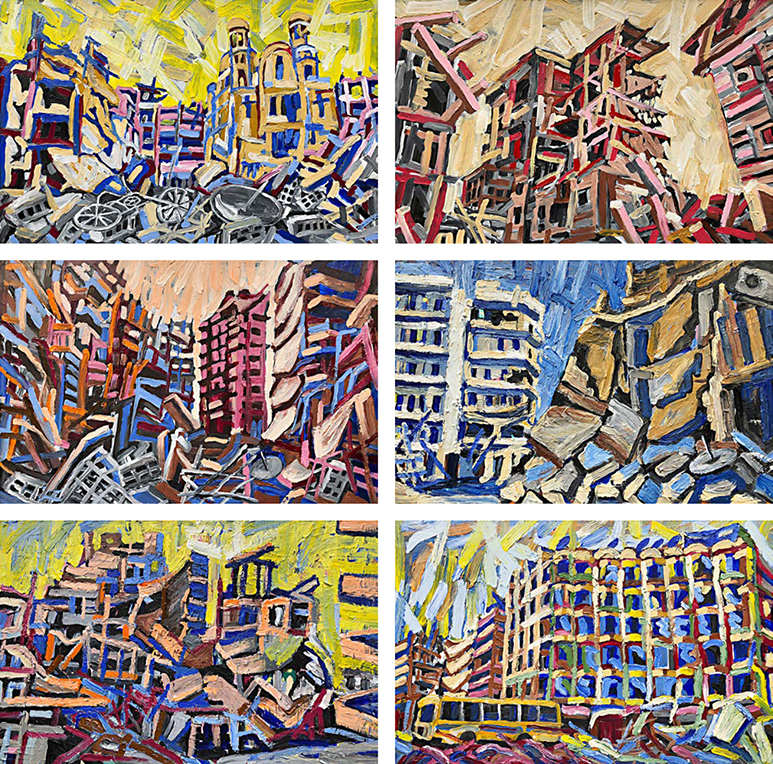 Aleppo-Urban-Landscapes-No13_6 paintings_35x35_web